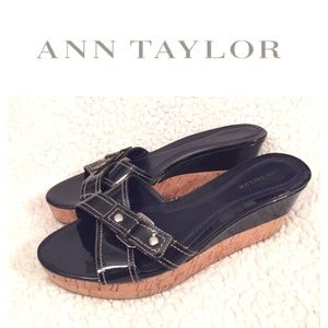 Ann Taylor Patent Wedges